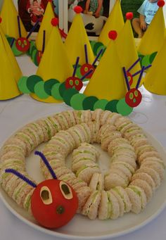 Very Hungry Caterpillar sandwiches! The possibilities are endless. #VeryHungryCaterpillar #PenguinKids