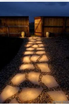 Solar power glow in the dark decoration stones! Good for the walkway..
