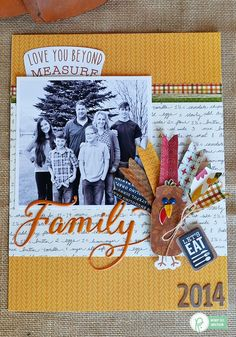 """Thanksgiving Turkey Day Layout by @Wendysuea made with the """"Harvest"""" collection by @Pebblesinc"""