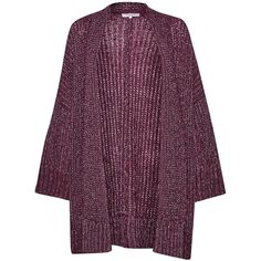 Great Plains Sparkle Silent Oversized Cardigan - Elderberry & Silver ($26) ❤ liked on Polyvore featuring tops, cardigans, silver cardigan, purple cardigan, long cardigan, oversized cardigan and long sleeve tops
