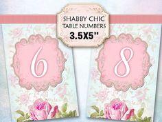 Weddings Bridal Digital Printable Table numbers 1-12 d