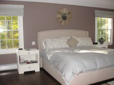 Benjamin Moore Smoked Oyster wall color (for bedroom)!
