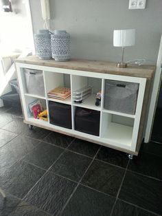 Everyone knows the 'Kallax' cabinets from IKEA! Here are 11 fantastic ideas to make your own with the Kallax cabinets! Everyone knows the 'Kallax' cabinets from IKEA! Here are 11 fantastic ideas to make your own with the Kallax cabinets! Storage Hacks, Cube Storage, Ikea Furniture, Upcycled Furniture, Kallax Ideas, Ikea Cubes, Kallax Regal, Ikea Expedit, Living Room Decor