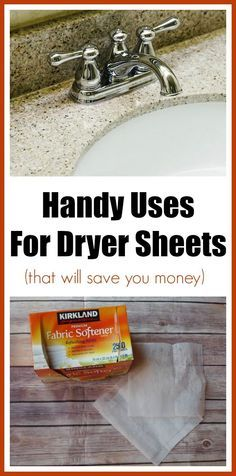 Uses for Dryer Sheets That You Didn't Know About and That Will Save You Money | Cleaning hacks | cleaning tips