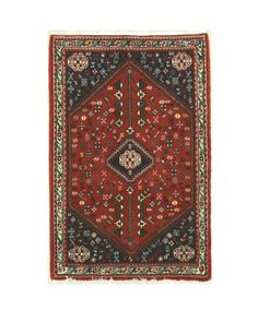 EORC X32713 Hand Knotted Wool Abadeh Rug, 2'4 x 3'5, Rust
