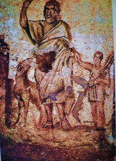 Abraham and Issac Roma, catacomba di via Anapo