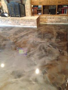 Faux Finish With Water Based Concrete Stain Acid Stain Isn