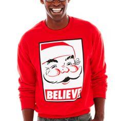 believe fleece sweatshirt found at jcpenney kitchen curtains ugly christmas sweater kitchen window - Jcpenney Christmas Sweaters