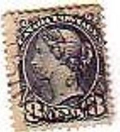 Stamp Canada Queen Victoria Eight Cents Blue 1897 used  Ref 001
