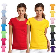 solid color t shirts short sleeve for women - Google Search