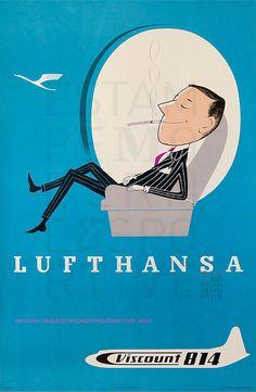 Lufthansa Viscount 814 99,5X63 Print Germany by estampemoderne.fr, via Flickr