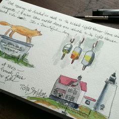 Watercolor sketchbook, Maine, Tisha Sheldon