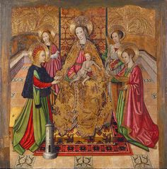 Virgin And Saints  Jaume Huguet
