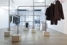exhibition display clothing hanging store