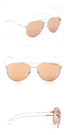 491cfc73d1 Amazon.com  Michael Kors Hvar Sunglasses MK5007 Rose Gold   Rose Gold Flash  1080 R1 59mm  Clothing
