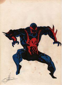 Homem Aranha 2099, pois é, também não sei porque desenhei ele. Acho que era falta de algo melhor!