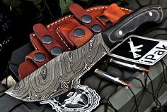CFK USA Custom Handmade Damascus Hunting Skinning TRACKER