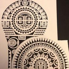 Samoan Tattoo, Tattoo Maori, Polynesian Tattoos, Tattoo Templates, Sacred Geometry Tattoo, Maori Tattoo Designs, Marquesan Tattoos, Oriental Tattoo, Different Tattoos