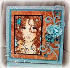 Seahorse Beauty by busysewin - Cards and Paper Crafts at Splitcoaststampers