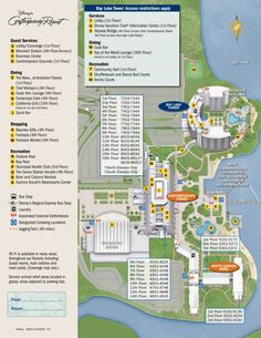 Contemporary Resort Map | KennythePirate Disney World Guide