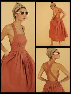 Fantastic Images sewing dresses easy Tips Easy cross back dress pattern similar to pair and a spare Diy Summer Clothes, Summer Outfits, Diy Your Clothes, Sewing Summer Dresses, Spring Dresses, Diy Clothing, Sewing Clothes, Looks Style, My Style