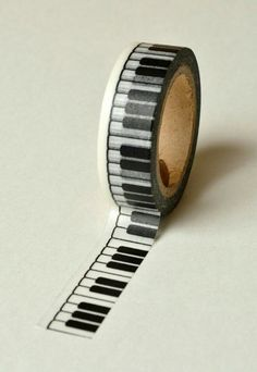 Items similar to Washi Tape - - Black Piano Keys on Whi.-Items similar to Washi Tape – – Black Piano Keys on White Pattern – Deco Paper Tape No. 783 on Etsy - Piano Keys, Piano Music, Gift Box For Men, Black Piano, Cute School Supplies, Instruments, Music Decor, Paper Tape, Music Stuff