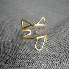 golden kitty ring