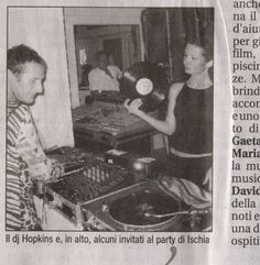 Dj David Hopkins In Ischia, playing the decks.