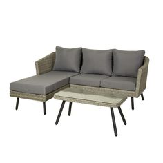 Moderne chaiselong sofa i 3 deler. Outdoor Sofa, Outdoor Furniture, Outdoor Decor, Home Decor, Decoration Home, Room Decor, Home Interior Design, Backyard Furniture, Lawn Furniture