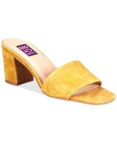 Mojo Moxy Ceci Block-Heel Mules - Yellow 6.5M