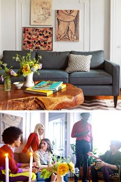 Solange Knowles uses art picked up at local New York festivals for living room decor
