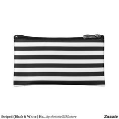 Keep your lipstick & eyeliner safe with a new Retro cosmetic bags from Zazzle. Unrivaled designs transform these makeup bags. Makeup Bags, Folded Up, Cosmetic Bag, Cosmetics, Black And White, Shopping, Collection, Design, Fashion