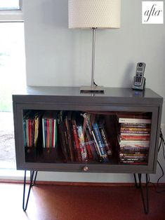 I'd use different legs. But I like repurposing a cabinet like this.