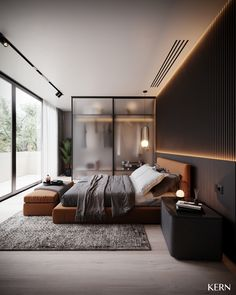 Modern Luxury Bedroom, Master Bedroom Interior, Modern Master Bedroom, Modern Bedroom Design, Home Room Design, Master Bedroom Design, Luxurious Bedrooms, Home Decor Bedroom, Home Interior Design