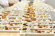 chefs prepare trays of high tea at best high tea spot cafe linnea Tea Sandwiches, High Tea, Afternoon Tea, Tea Time, Tea Party, Food And Drink, Lunch, Good Things, Treats