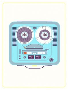 Unfamiliar Objects Series: Tape Deck by Kevin Tong - Limited edition of 200 - 61 x 46 cm - 150 Euros ex. shipping