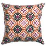 Jonathan Adler - Pink and orange bobo medallion pillow