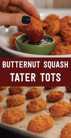 These Butternut Squash Tater Tots Are Healthy And So Much Fun  | healthy recipe ideas @xhealthyrecipex |