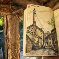 Lot et Garonne. Urban Sketches and Travel Journals on Moleskine. By dessinauteur.