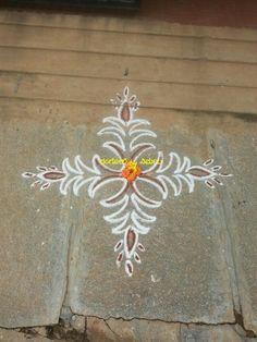 Small Rangoli Design, Rangoli Ideas, Rangoli Kolam Designs, Beautiful Rangoli Designs, Simple Rangoli, Mehendi, Blouse Designs, Dots, Painting