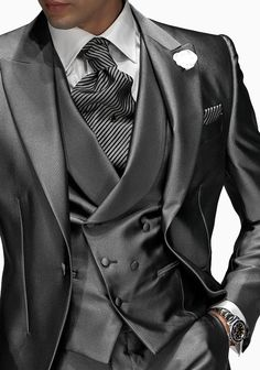 Monochrome Gray Italian Wedding Suit