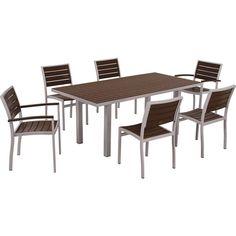 Polywood Euro 6-Seat Rectangular Dining Set