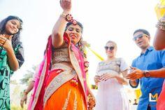 Dance shot | bride | Makeup | Weddingplz | Wedding | Bride | Groom | love | Fashion | IndianWedding | Beautiful | Style | Groom | jewellery | photographer | WeddingLehenga | MakeUpArtist