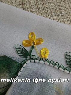 Sarı tülbent oyası