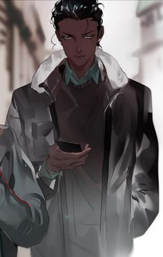 Black Anime Guy, Dark Anime Guys, Character Aesthetic, Character Art, Character Design, Animated Man, Black Anime Characters, Handsome Anime Guys, Guy Drawing