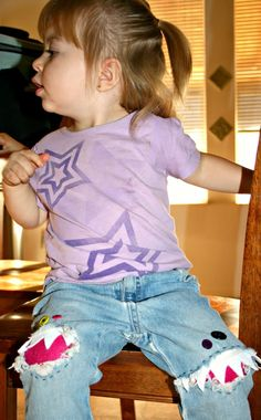 creative way to patch holes in your kids jeans!  :)
