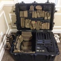 Grey Man Tactical's patented RMP SERIES [Rigid MOLLE Panel] is a weather resistant organizational platform engineered to equip your vehicle, backpack, case and safe with quick access to critical gear. Tactical Survival, Tactical Gear, Survival Gear, Tactical Gun Case, Tactical Wall, Ammo Storage, Weapon Storage, Army Gears, Airsoft Gear