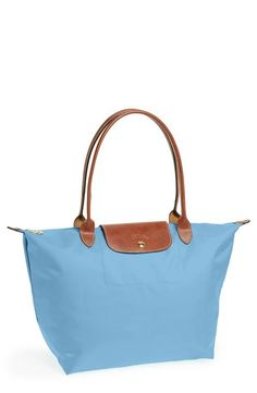 Crushing on the new pastel Longchamp tote.