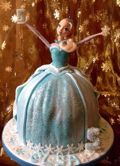 Elsa doll cake - Cake by Nanna Lyn Cakes