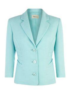 Aqua Pintuck Detail Jacket